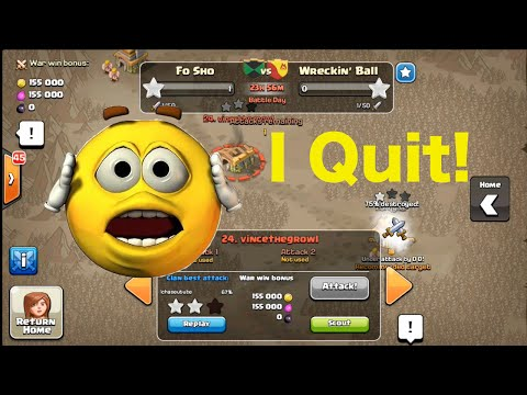 I Quit My Clan! - Clash of Clans