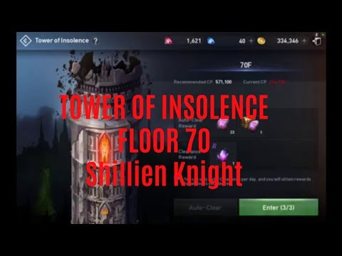 Lineage 2 Revolution Tower of Insolence Floor 70 Shillien Knight