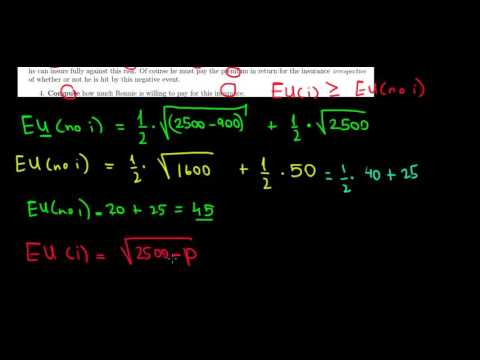 MICROECONOMICS I How To Calculate The Willingness To Pay For An Insurance