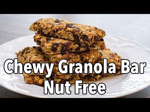 Healthy Nut Free Chewy Granola Bar Recipe