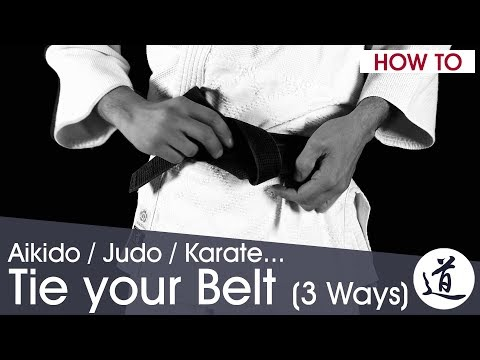 How to Tie your Aikido / Judo / Karate Belt - 3 Methods - Very Detailed (w/ subtitles)