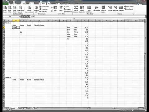 Create Microsoft Excel 2010 Tracking Sheet