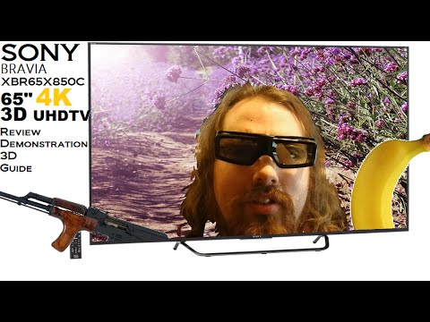 Sony Bravia XBR65X850C Review, Demo, Settings, 3D