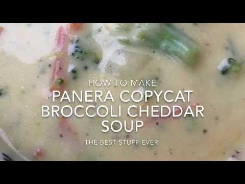 Panera Copycat Broccoli Cheddar Soup - How to Make Panera's Broccoli and Cheddar Soup