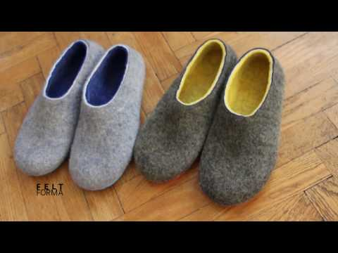 Wool Felted Slippers (for Men and Women ) FELT FORMA
