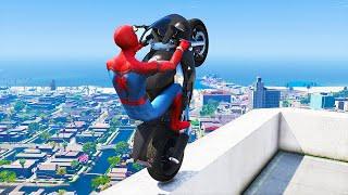GTA 5 Spiderman Epic Jumps #9 ( Spider-Man Stunts & Fails )