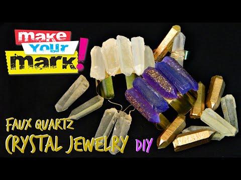 How to: Faux Quartz Crystal Jewelry