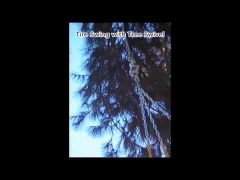Tire Swing without Tree Swivel vs Tire Swing with Tree Swivel