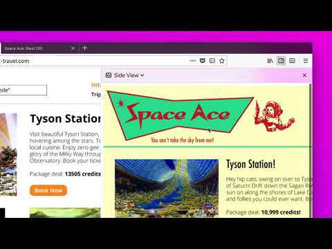 Side view: a brand new extension by Firefox