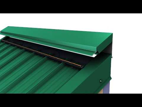 How to install high side peak trim on a Union MasterRib metal roof.