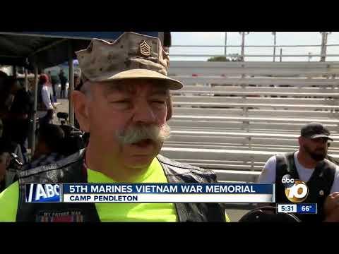 Camp Pendleton unveils 5th Marines Vietnam War Memorial