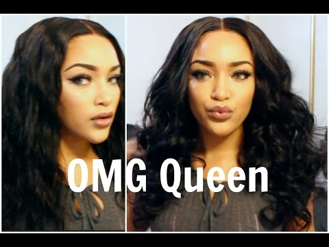OMGQueen.com | Affordable Virgin Brazilian 180% Density 360 Wig Body Wave Hair Review