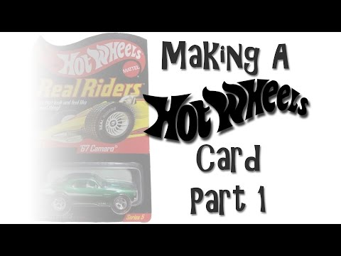 DIY Hot Wheels Card - Part 1 - The Card Outline