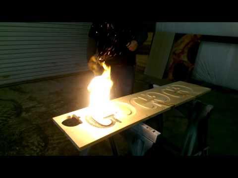 Wood Burning with Smokeless Powder