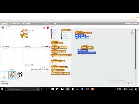 Tutorial 2 Scratch Restart Code, Motion, and Looks Part 1