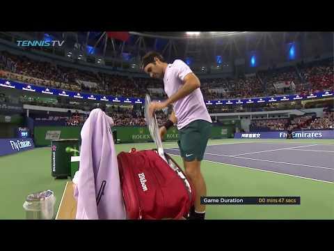 Roger Federer lightning-fast, 47-second service game! | Shanghai Rolex Masters 2017 Day 4