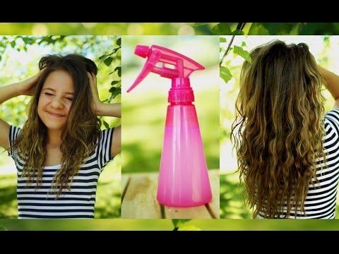 Heatless beachy waves + DIY sea salt hair spray