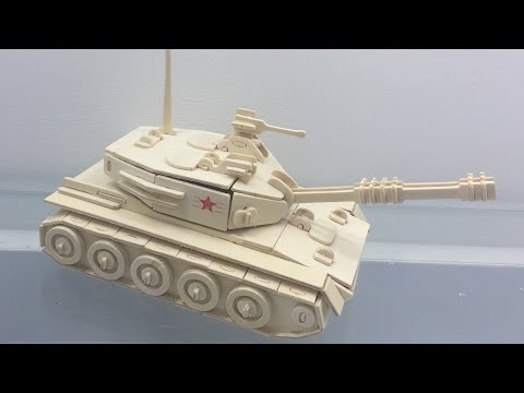 Wood Craft Construction Kit, How to make a wooden Tank Toy
