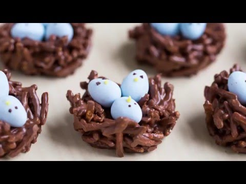 Chocolate egg nest treats