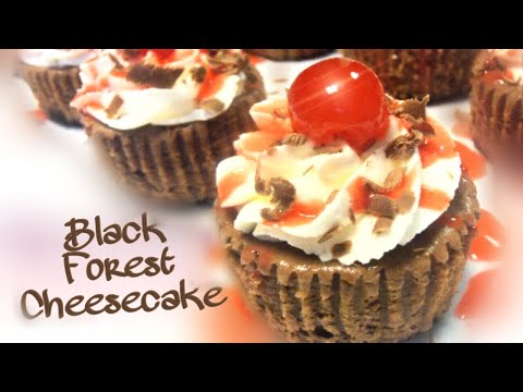 Black Forest Cheesecake Cupcakes Recipe!