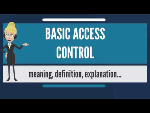 What is BASIC ACCESS CONTROL? What does BASIC ACCESS CONTROL mean? BASIC ACCESS CONTROL meaning