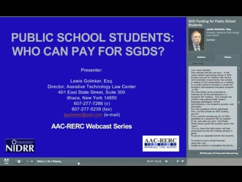 Public School Students - Who Can Pay for SGDs? -  Lew Golinker