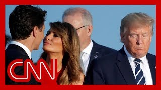 Melania Trump's moment with Trudeau goes viral