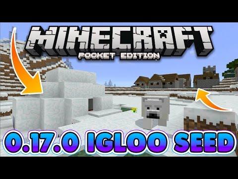 BEST IGLOO SEED!! Minecraft Pocket Edition Ice Spikes Village + Igloo at Spawn!
