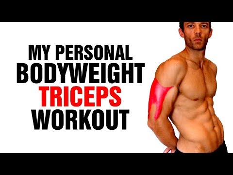 My Body-weight Triceps Home Workout for Mass - Work All Three Tricep Heads -  Sixpack Factory