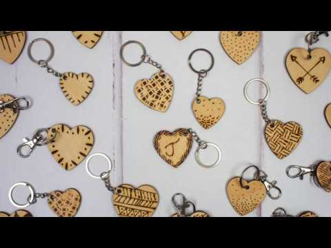 DIY Etched Wooden Hearts