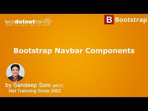 Bootstrap Tutorial - Create a Responsive Navigation Menu - Navbar Components