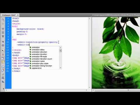 Dreamweaver CS6  Create a Slideshow using JavaScript and HTML