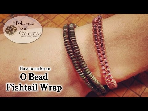 O Bead Fishtail Wrap Bracelet