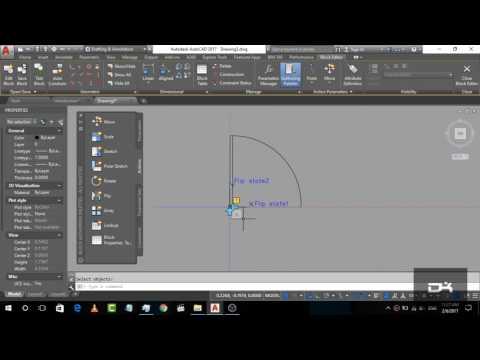 How to Create door in block Editor | AutoCad 2017 Tutorial
