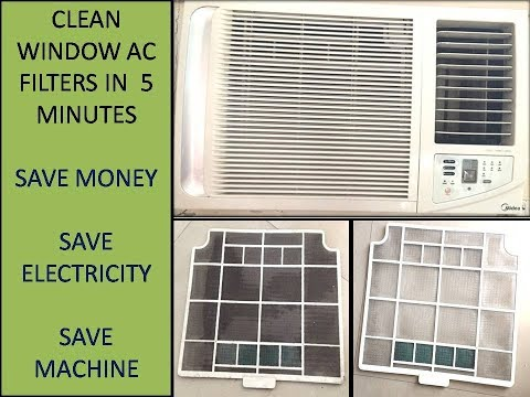 How to clean window AC filter at home | Very easy