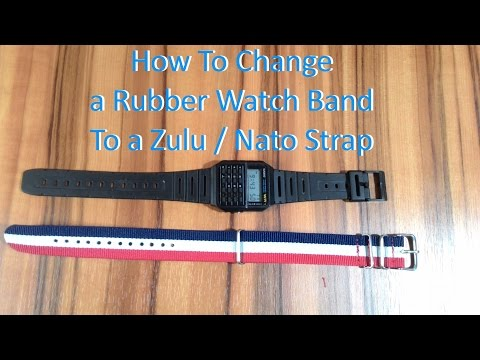 How to change a rubber watch band to a nato or zulu strap