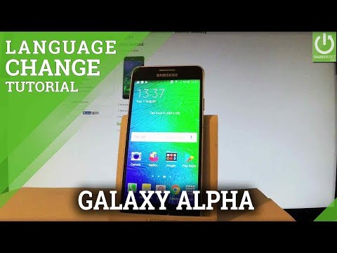How to Change Language in SAMSUNG Galaxy Alpha - Language Settings