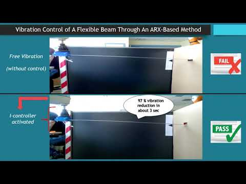 Real time vibration control of flexible beams manipulated by industrial robots