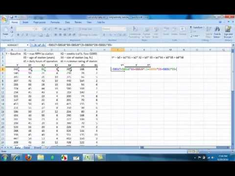 Regression Analysis Using Microsoft Excel 2007