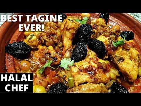 Moroccan Chicken Tagine - Tajine De Poulet - TASTY RECIPE طاجين - Halal Chef