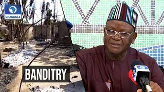 Download Ortom Raises Alarm Over Violence Video