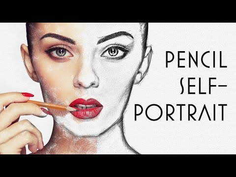 Photoshop: How to Create a Pencil Self-Portrait