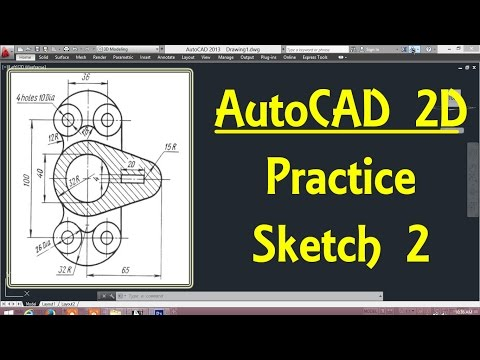 2D Autocad practice drawing 2 in AutoCAD By Engineer AutoCAD Tutorials