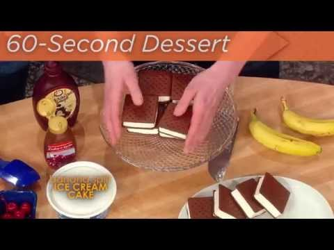 60 Second Dessert: Banana Split Ice Cream Cake