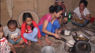 Cooking local organic chicken meat in traditional way ll Primitive technology