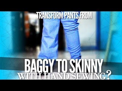 How to Trasform Your Pants from Baggy to Skinny with Hand Sewing | DIY with Zymon B.