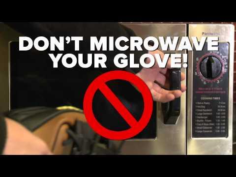 Don't Microwave Your Baseball Glove: A Wilson PSA