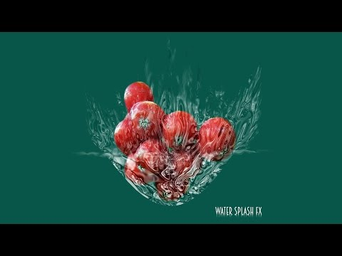 Photoshop tutorial:How to create water splash effect in photoshop