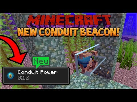NEW UNDERWATER BEACONS! Minecraft 1.13 Snapshot 18W15A - Conduit Beacon, Heart Of The Sea & Dolphins