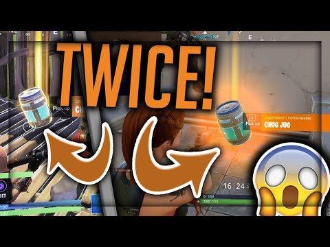 I GOT THE CHUG JUG 2 TIMES BACK TO BACK! - Legendary Chug Jug Gameplay - New Fortnite Update!